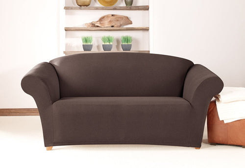 Simple Stretch Twill One Piece Loveseat Slipcover