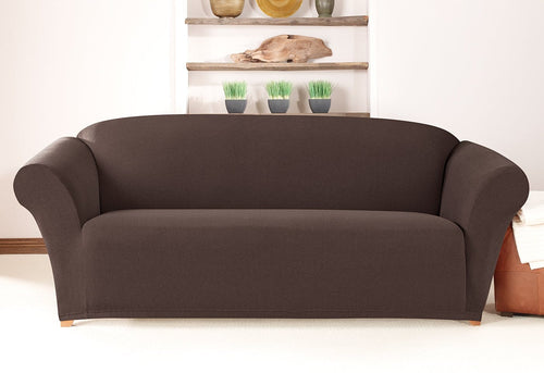 Simple Stretch Twill One Piece Sofa Slipcover