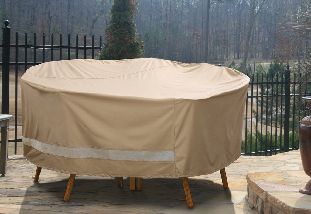 Patio Armor Round Table And Chair Outdoor Furniture Cover