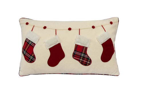 Stockings on a String 12x20 Decorative Pillow