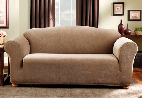 Stretch Madison Stripe One Piece Sofa Slipcover