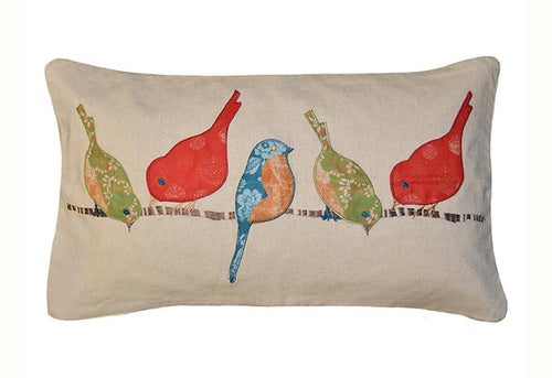 Tori Birds 14 Inch X 24 Inch Decorative Pillow