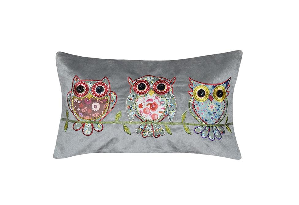 Tres Owls 12 Inch X 20 Inch Decorative Pillow