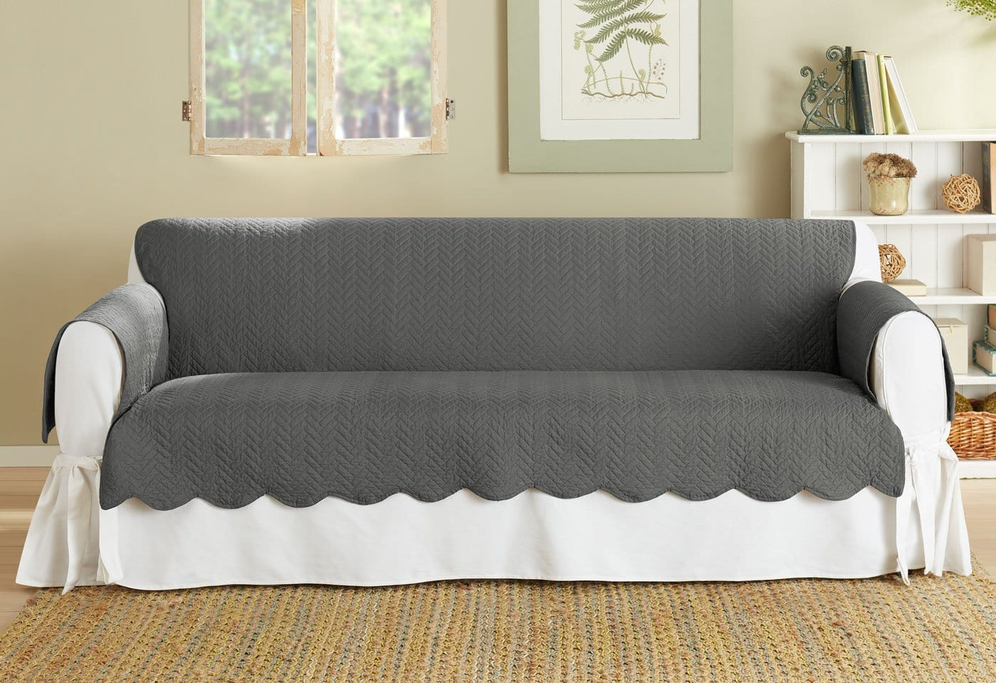 Vintage Washed Chevron Sofa Furniture Cover U2013 SureFit
