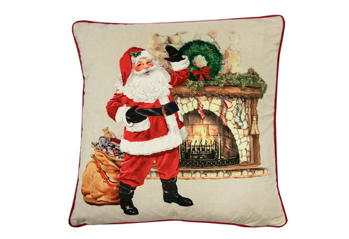 Waving Santa 20x20 Decorative Pillow