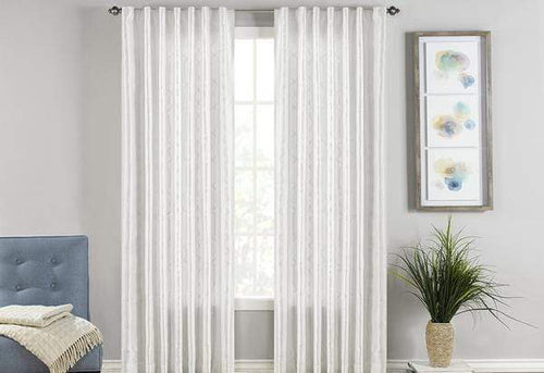 Adalina Embroidered Window Panel Set