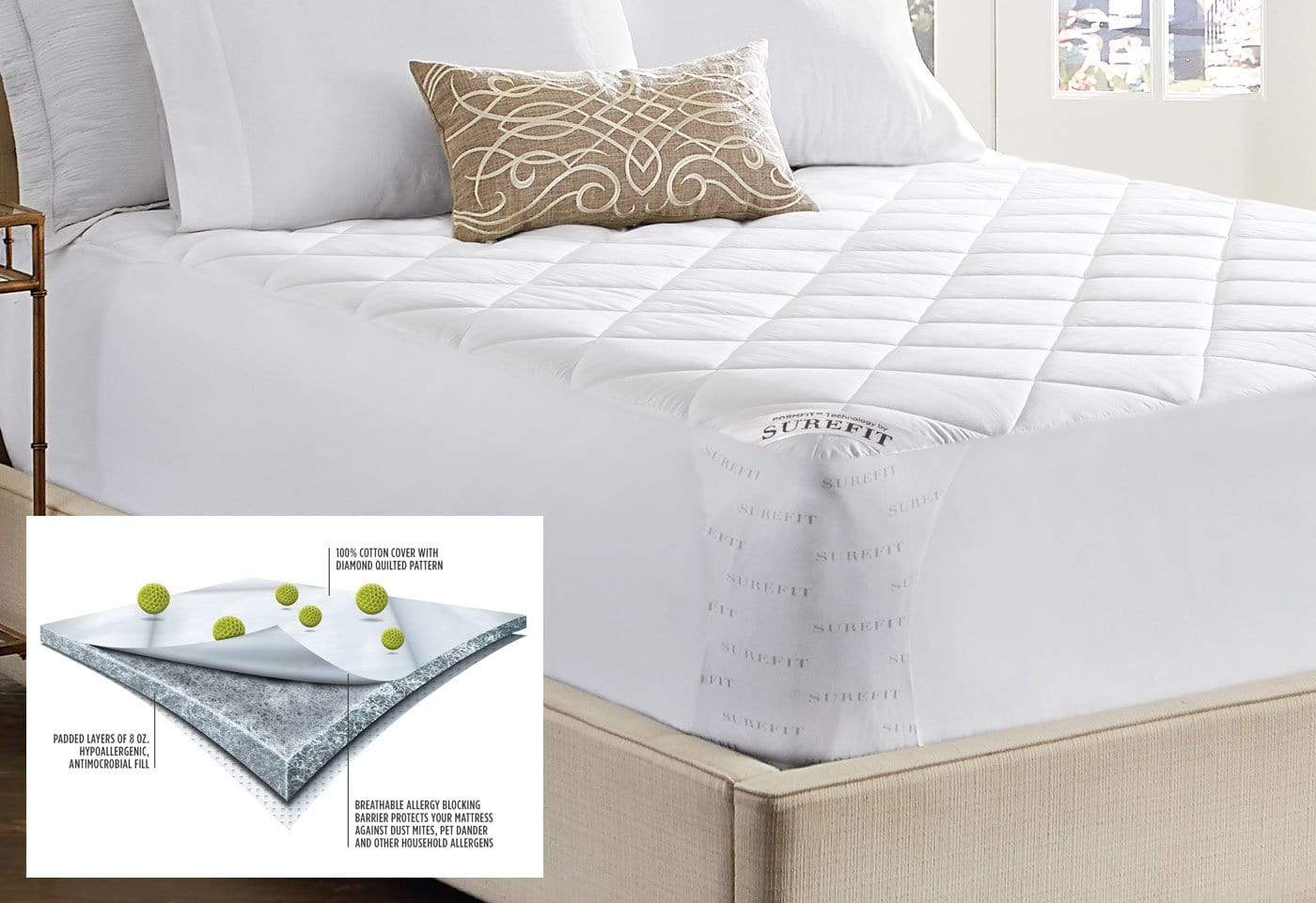 Anti Allergen Mattress Pad - California King