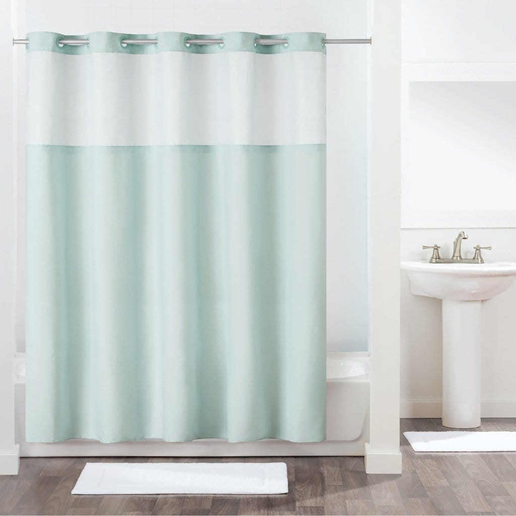 Antigo Hookless® Shower Curtain - 71 x 74 / Misty Blue