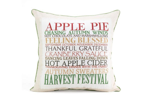 Apple Pie Words 20 Inch Square Decorative Pillow