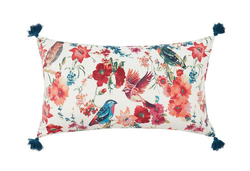 Bali Bird 14 Inch X 24 Inch Decorative Pillow