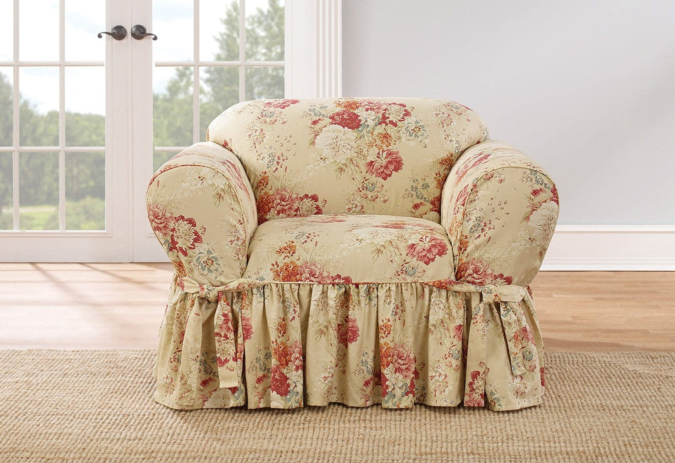 Ballad Bouquet By Waverly One Piece Chair Slipcover