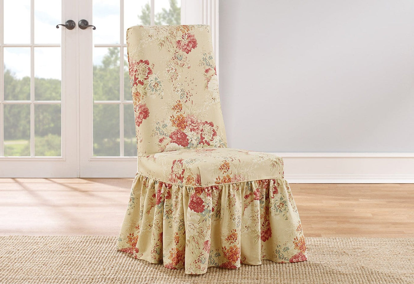 Fantastic Ballad Bouquet By Waverly Long Dining Chair Slipcover 100 Cotton Machine Washable Alphanode Cool Chair Designs And Ideas Alphanodeonline