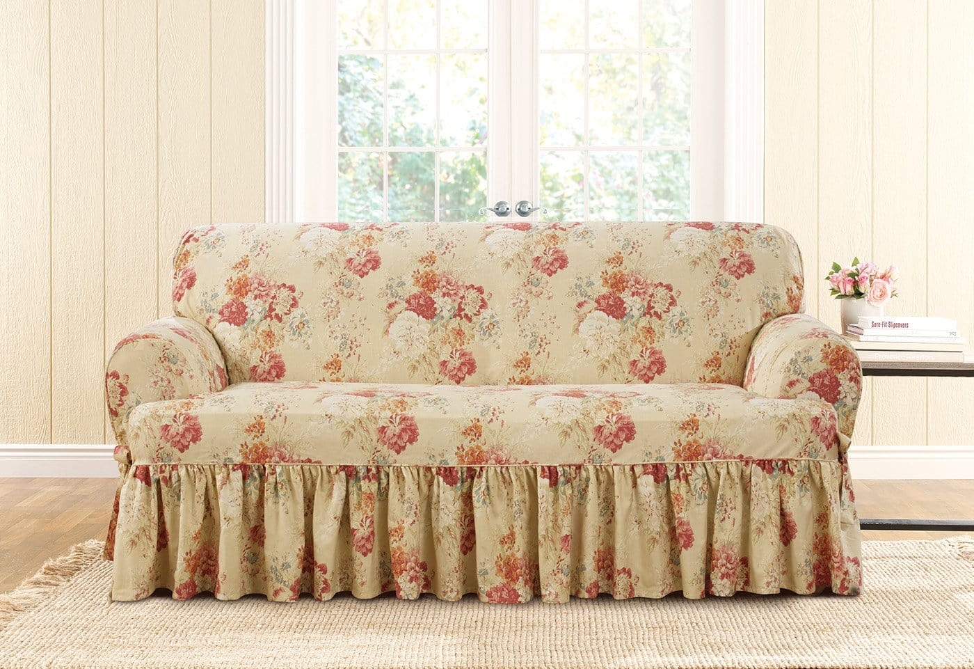 Ballad Bouquet By Waverly One Piece Loveseat Slipcover