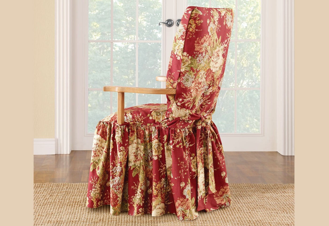 Ballad Bouquet by Waverly Arm Dining Chair Slipcover