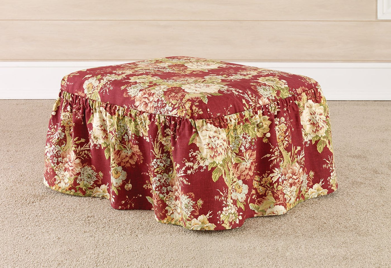 Ballad Bouquet Two Piece Ottoman Slipcover