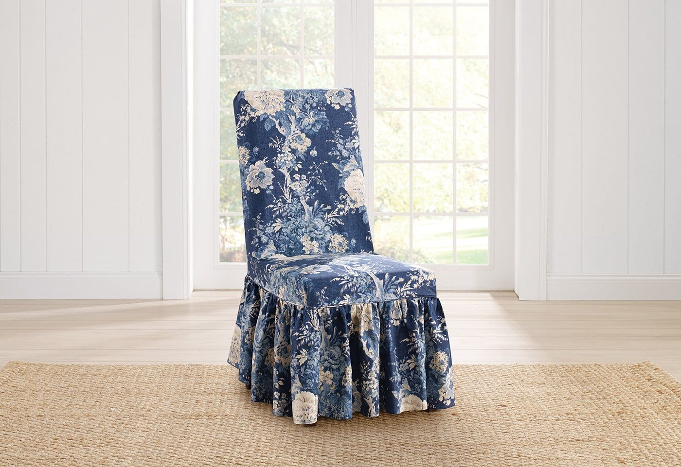 Ballad Bouquet By Waverly Long Dining Chair Slipcover - Final Sale