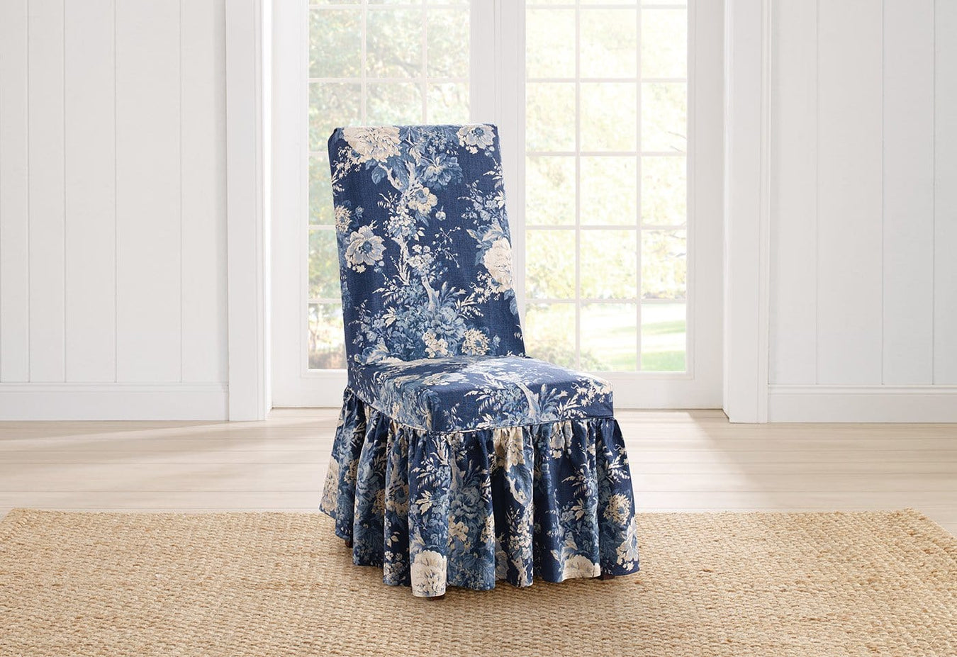 Ballad Bouquet Long Dining Chair Slipcover