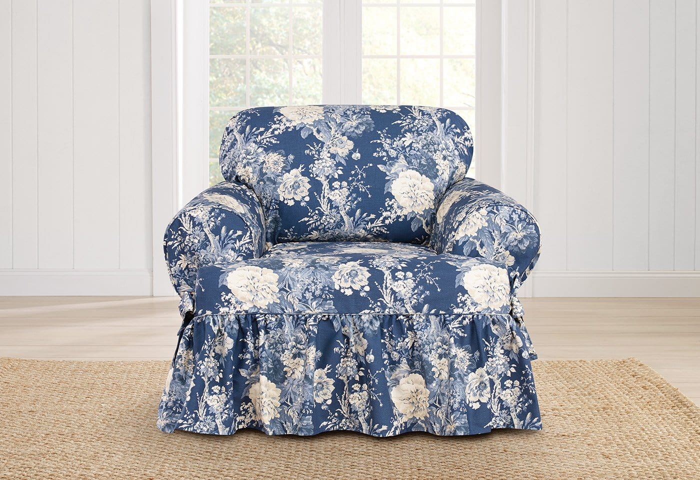 Ballad Bouquet By Waverly One Piece Chair Slipcover - Final Sale