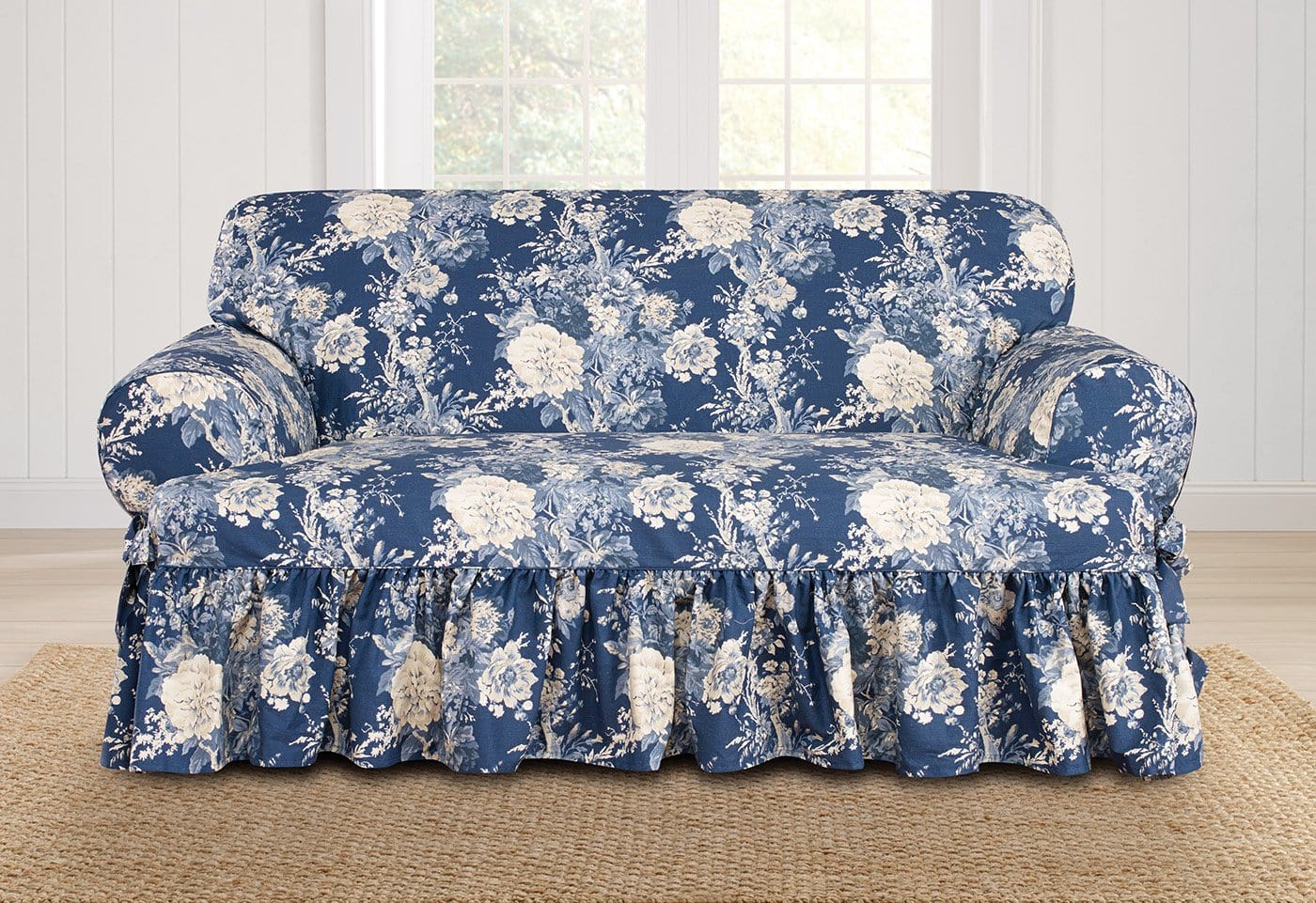 Ballad Bouquet By Waverly One Piece Loveseat Slipcover - Final Sale