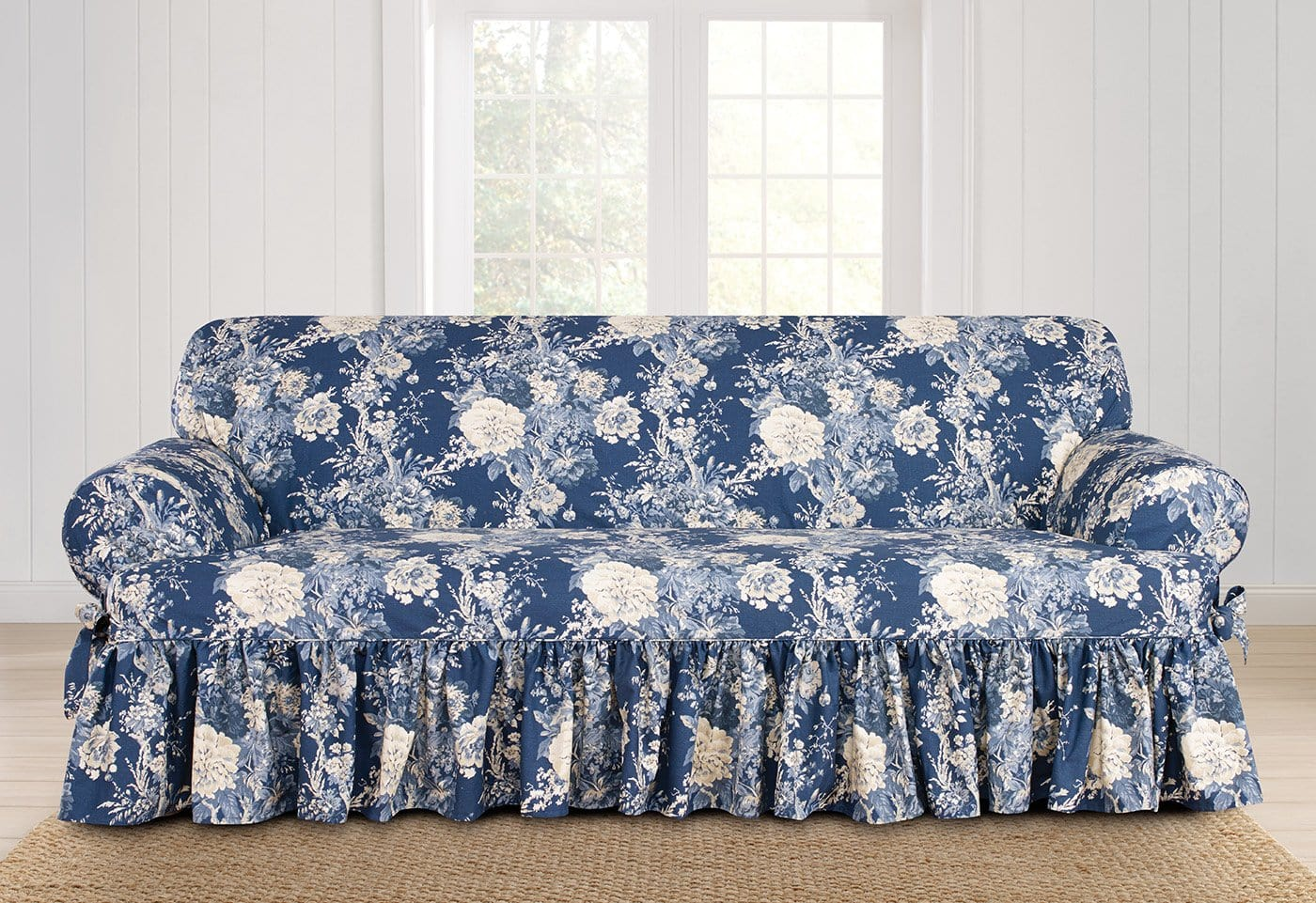 Ballad Bouquet By Waverly One Piece Sofa Slipcover - Final Sale