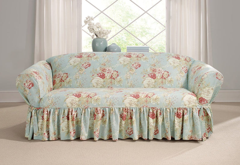 Admirable Ballad Bouquet By Waverly One Piece Loveseat Slipcover Pdpeps Interior Chair Design Pdpepsorg