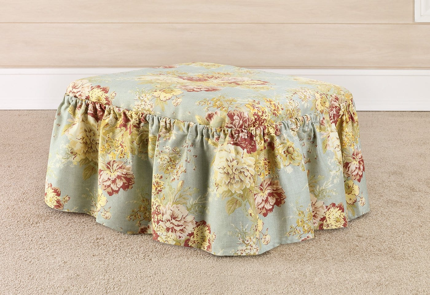 Ballad Bouquet By Waverly Two Piece Ottoman Slipcover