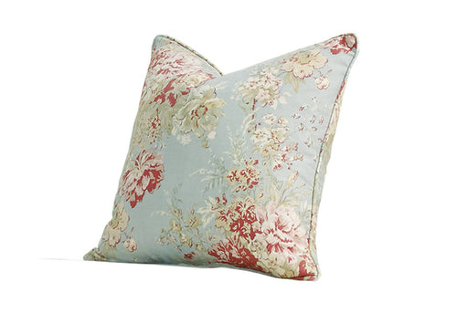 Ballad Bouquet by Waverly 18 Inch Square Pillow Cover with Pillow Insert