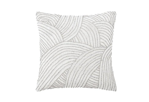 Beaded Hillside 16 Inch Square Decorative Pillow