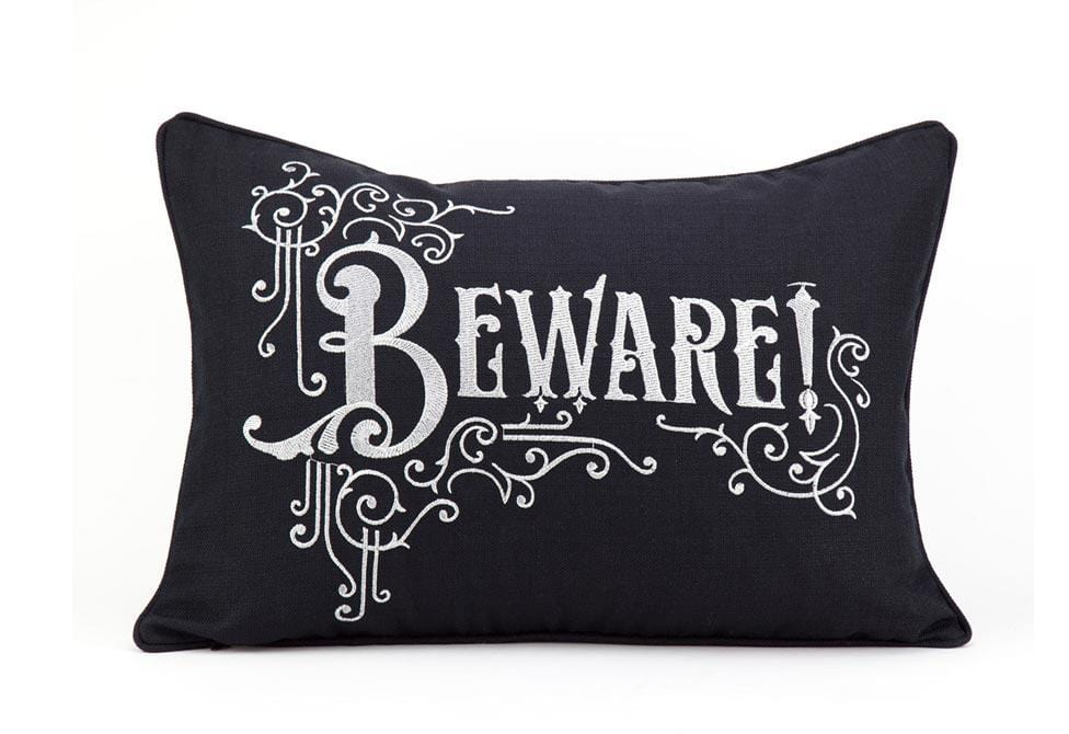 Beware 14 X 20 Inch Square Decorative Pillow