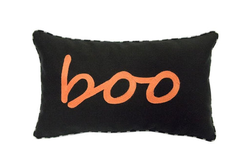 Boo 12 Inch X 20 Inch Decorative Pillow