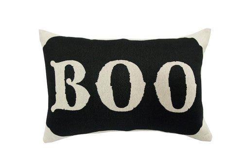Boo Words 14 Inch Square Decorative Pillow