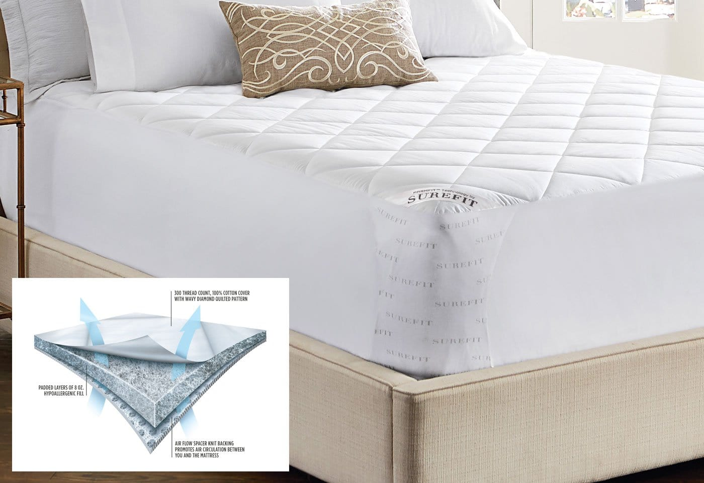 Breathable Mesh Mattress Pad - Twin