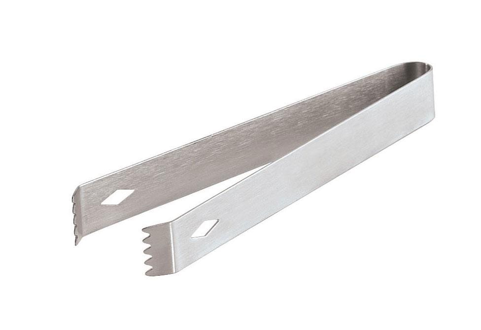 Barware Brushed Metal Ice Tongs - Brushed Metal