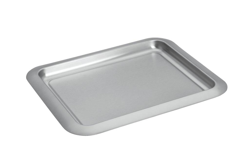 Barware Brushed Metal Bar Tray - Brushed Metal