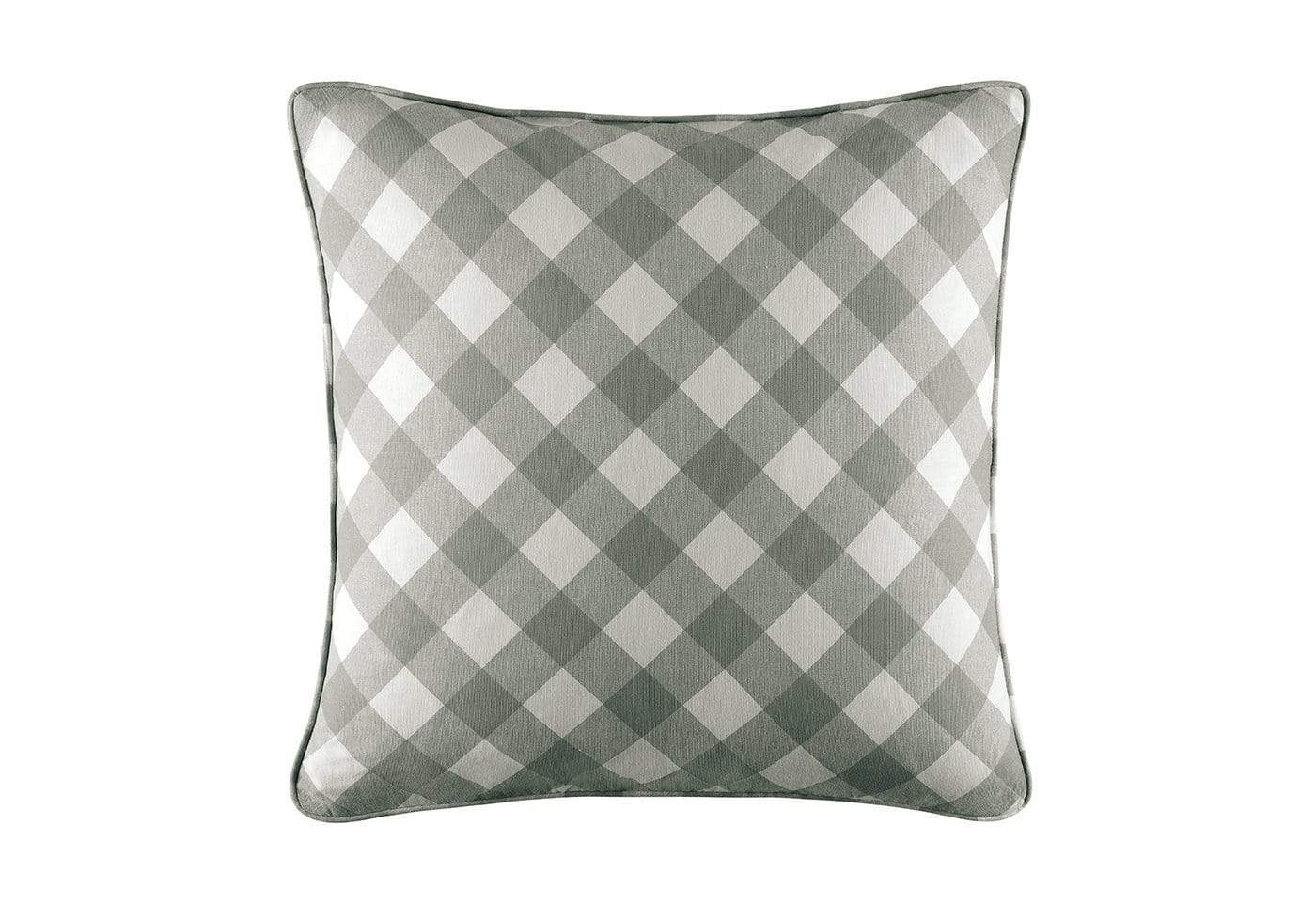 Buffalo Check 18 Inch Square Pillow Cover - 18x18 / Gray