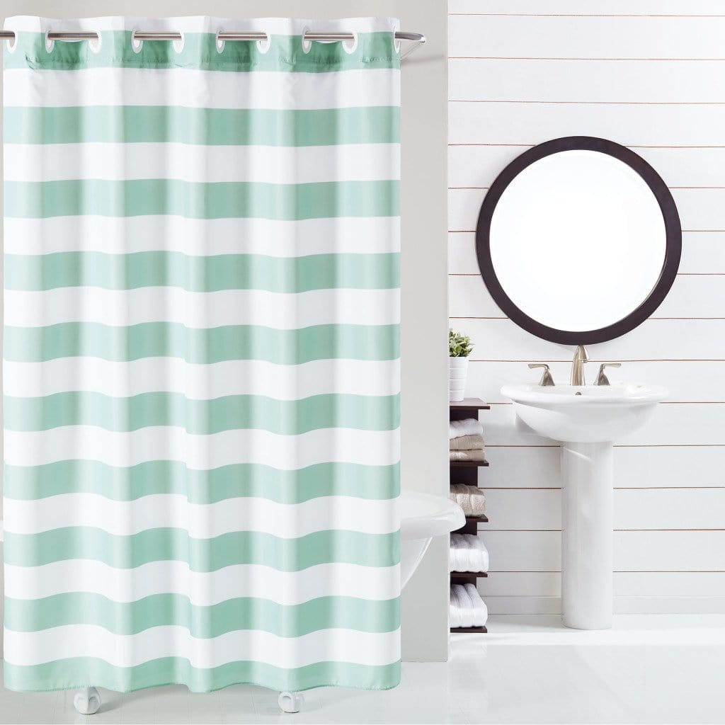 Cabana Stripe Hookless® Shower Curtain - 71 x 74 / Surf Gray