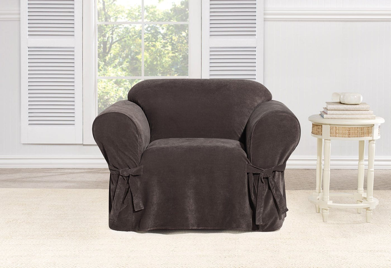 Everyday Chenille One Piece Chair Slipcover