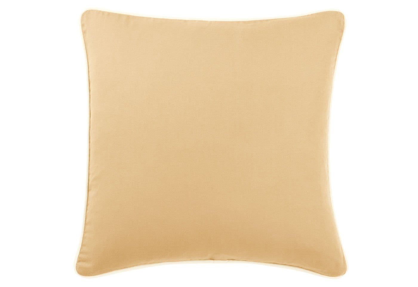 Cotton Canvas 18 Inch Square Pillow Cover - 18x18 / Maize
