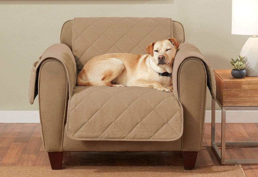 Cozy Twill Chair Furniture Cover Camel
