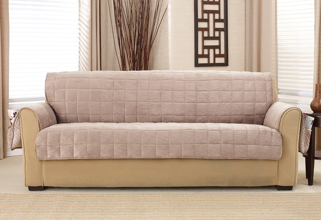 Deep Pile Velvet Sofa Furniture Cover Surefit
