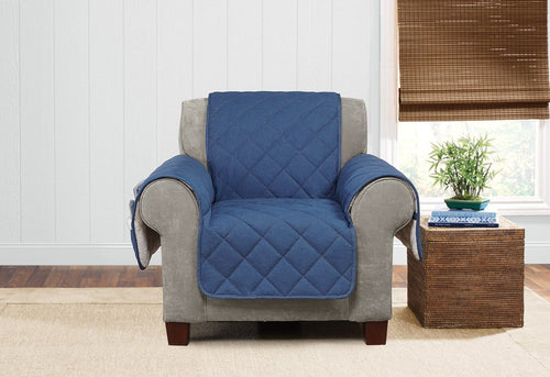 Denim & Sherpa Chair Furniture Cover