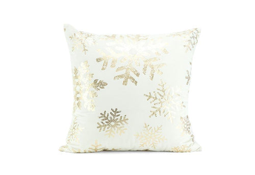 Distressed Snow 20 Inch Square Decorative Pillow