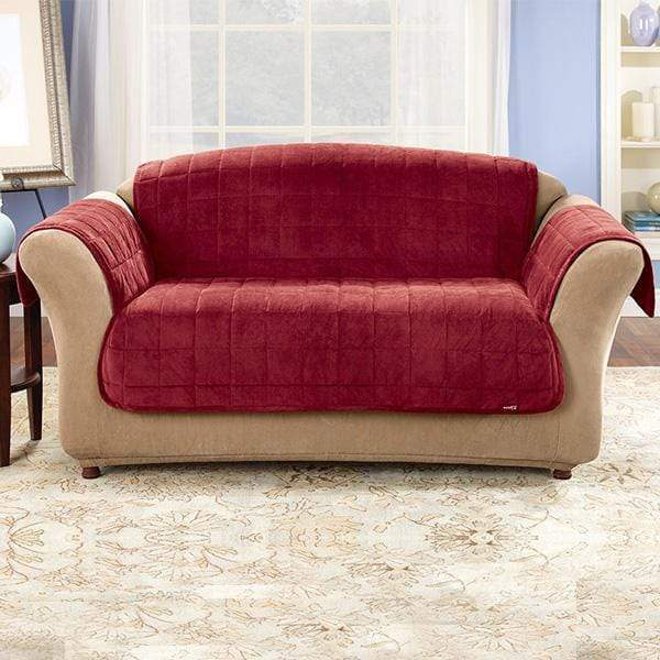 Deluxe Comfort Loveseat Furniture Cover With Arms Microban® Antimicrobial Pet Furniture Cover Machine Washable - Loveseat / Burgundy