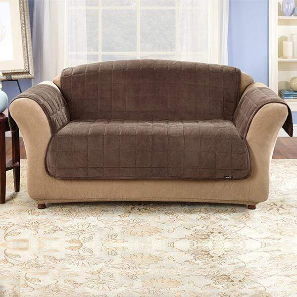 Deluxe Comfort Loveseat Furniture Cover With Arms Microban® Antimicrobial Pet Furniture Cover Machine Washable - Loveseat / Chocolate