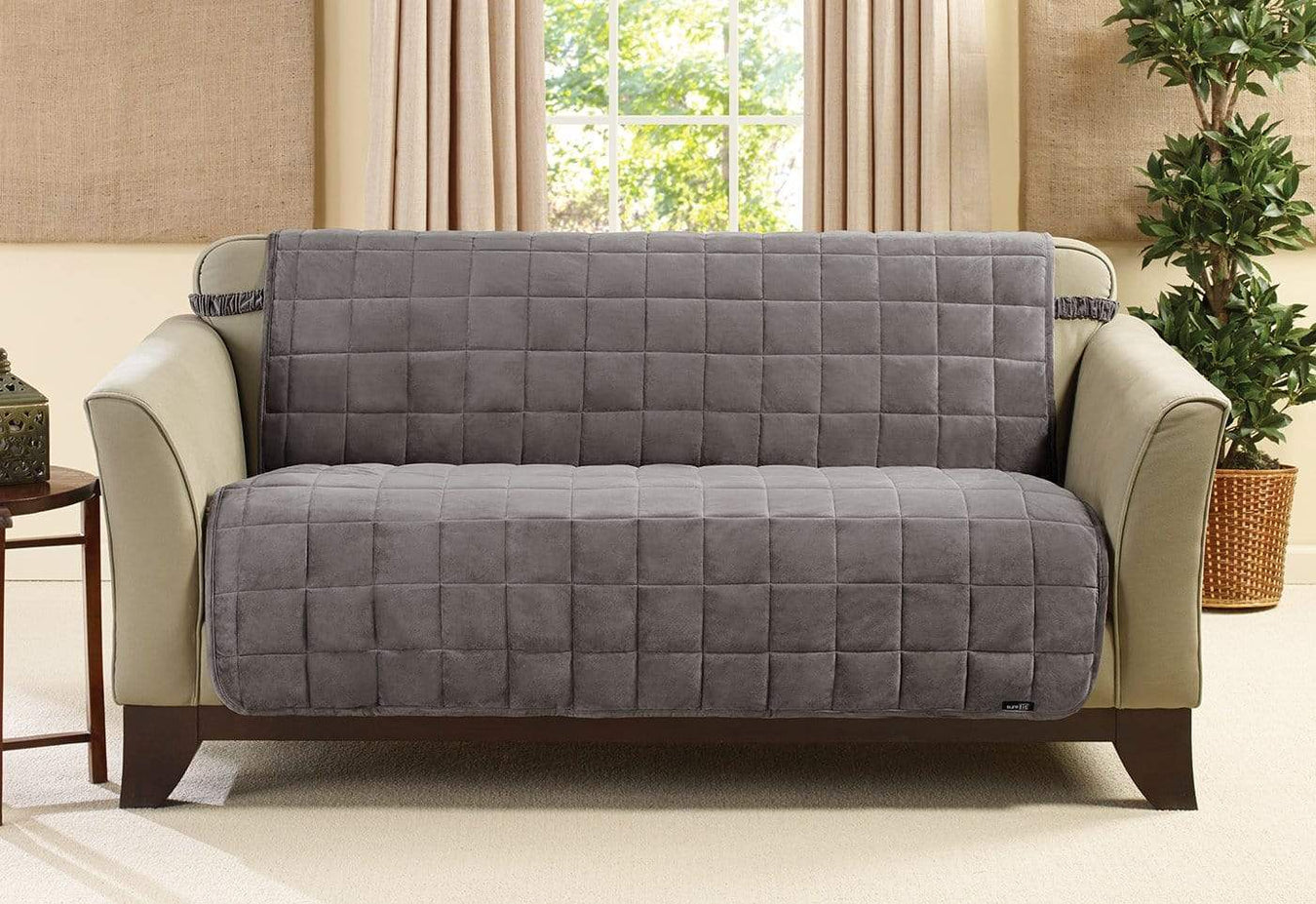 Marvelous Deluxe Comfort Armless Loveseat Furniture Cover Machine Download Free Architecture Designs Scobabritishbridgeorg