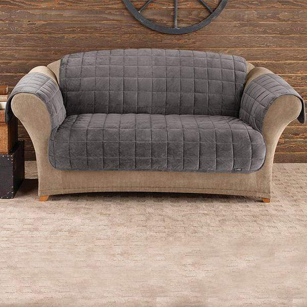 Deluxe Comfort Loveseat Furniture Cover With Arms Microban® Antimicrobial Pet Furniture Cover Machine Washable - Loveseat / Dark Gray