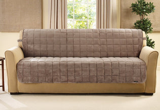 Deluxe Comfort Loveseat Furniture Cover With Arms Surefit