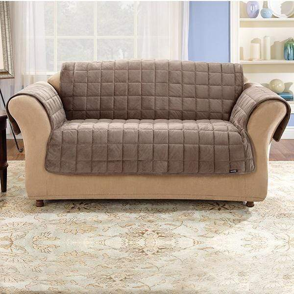 Deluxe Comfort Loveseat Furniture Cover With Arms Microban® Antimicrobial Pet Furniture Cover Machine Washable - Loveseat / Sable