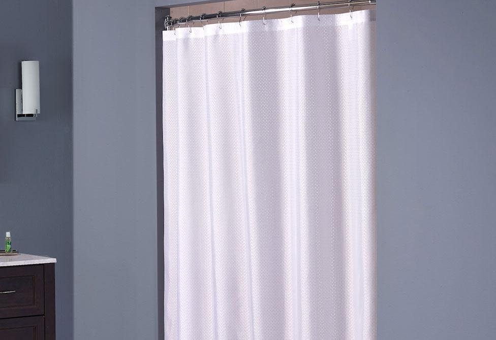 Hooked Shower Curtain - White