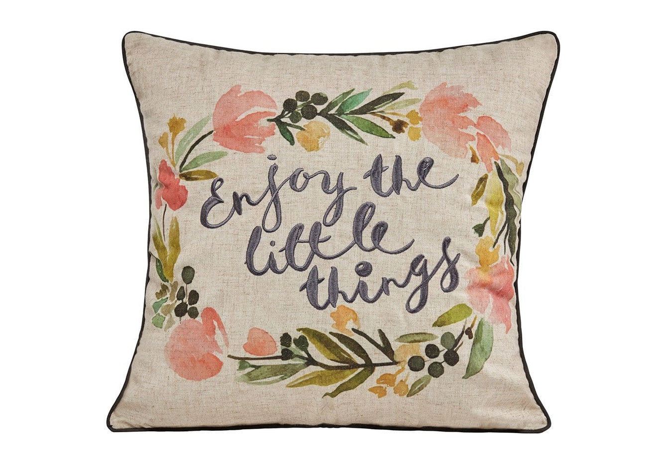 Enjoy The Little Things 18x18 Decorative Pillow